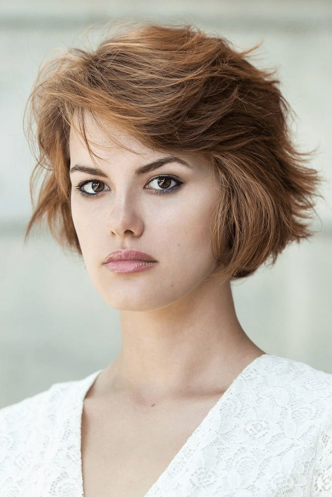 Short Haircuts for Round Face Shape - 60+