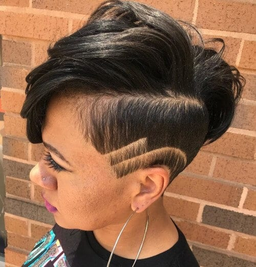 35 Short Haircuts For Black Women Shaved On Sides
