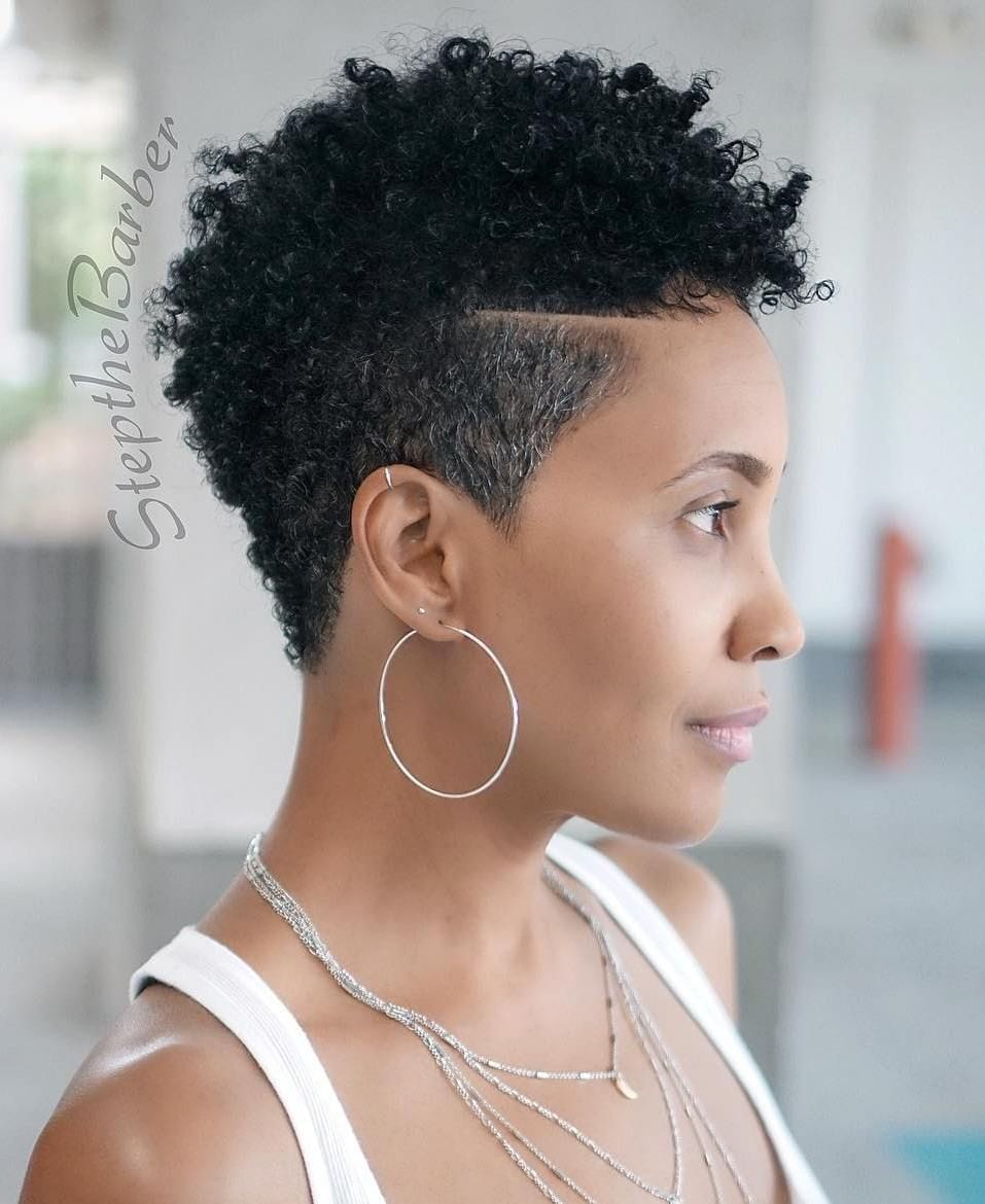 20+ Short Haircuts For Black Women Shaved On Sides