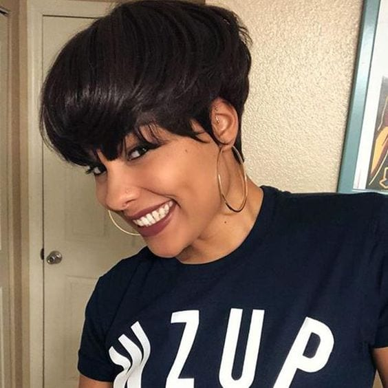 Short Natural Haircuts For Black Females With Round Faces
