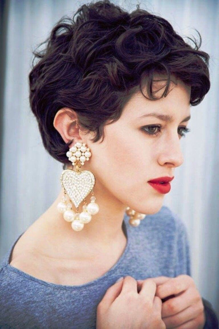 Short Pixie cuts for Curly Hair - 25+