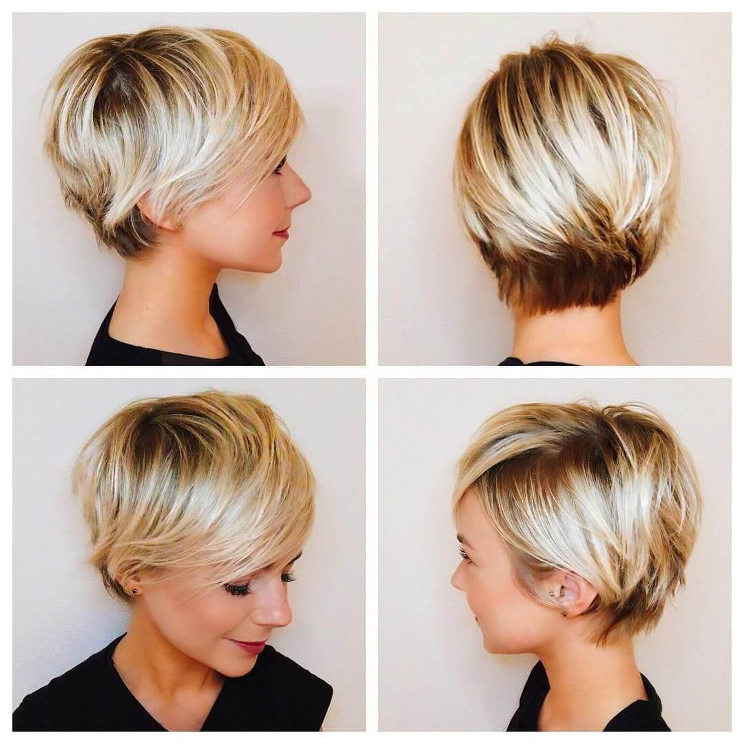 Short Pixie Haircuts Front and Back View - 12+