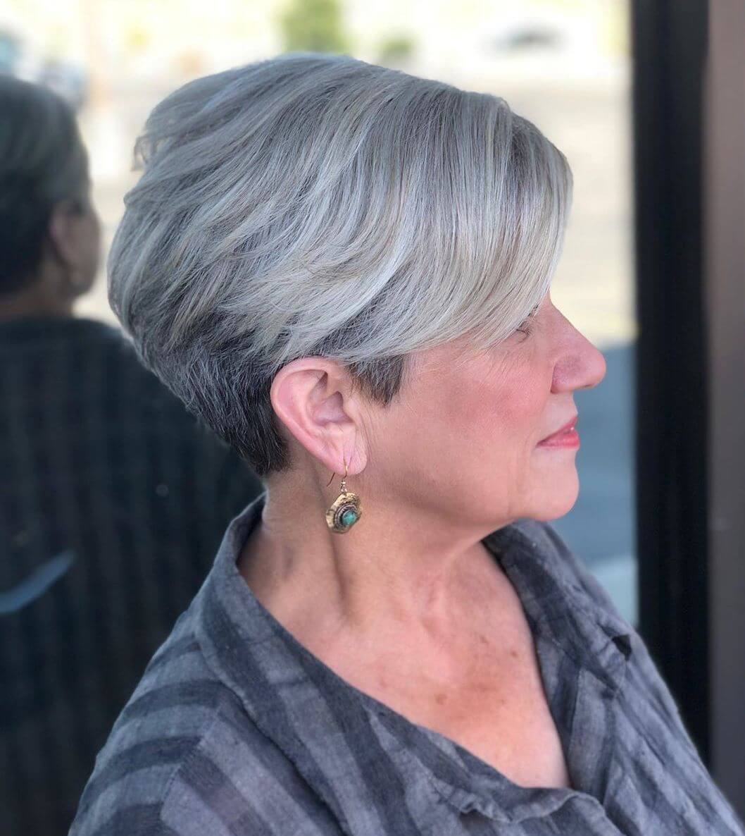 Short Haircuts for Elderly Woman - 12+