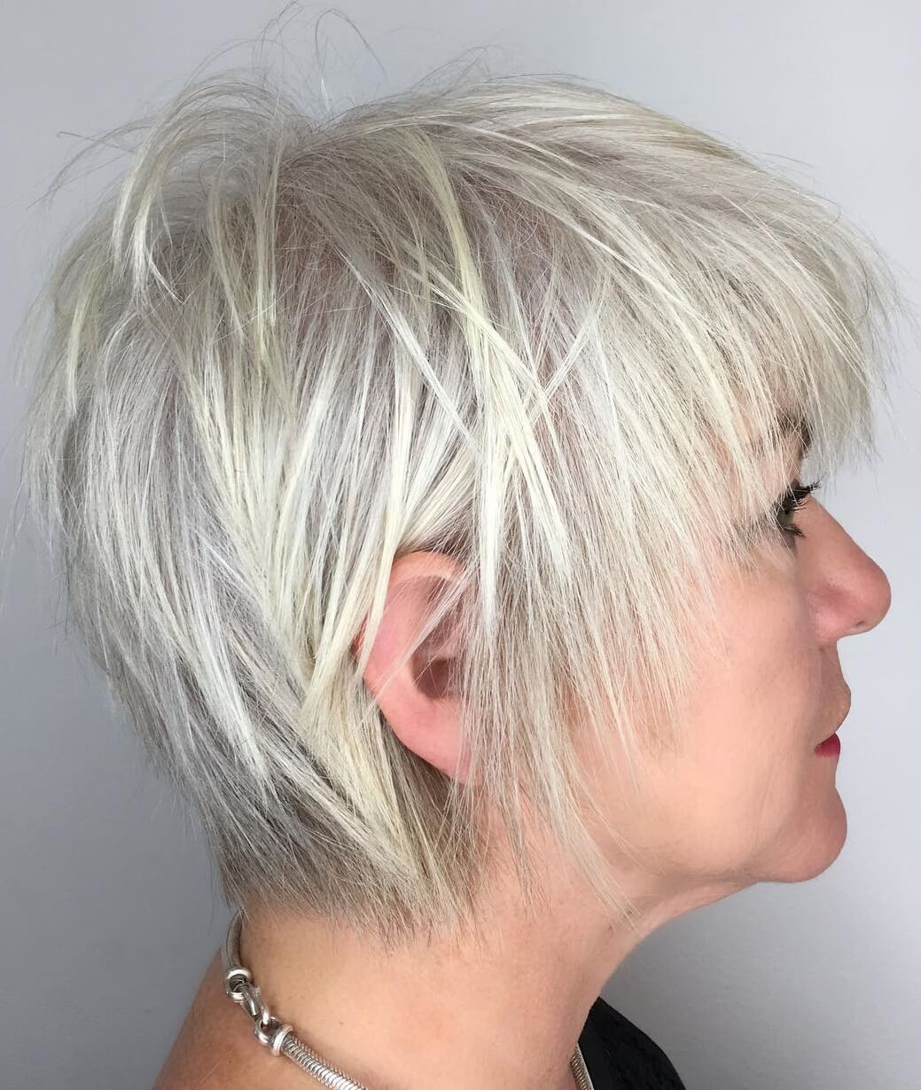 Short Haircuts for Women Over 60 With Fine Hair - 10+