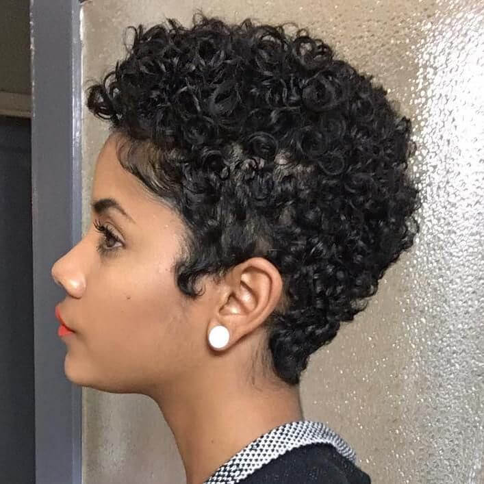 Short Curly Pixie Cuts For Black Hair 15