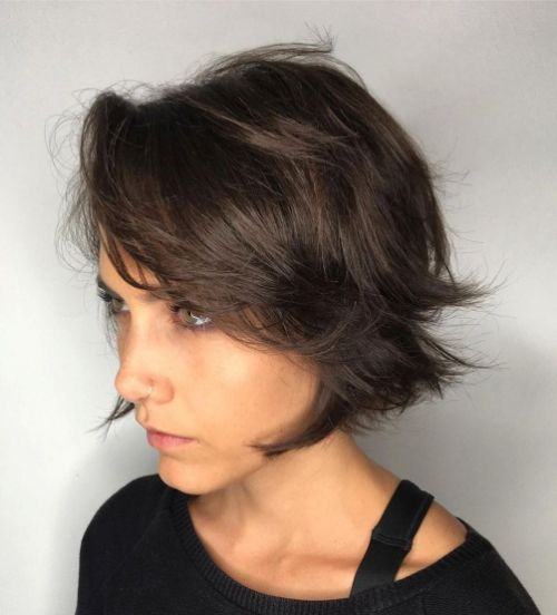 haircuts for thin hair to look thicker 23
