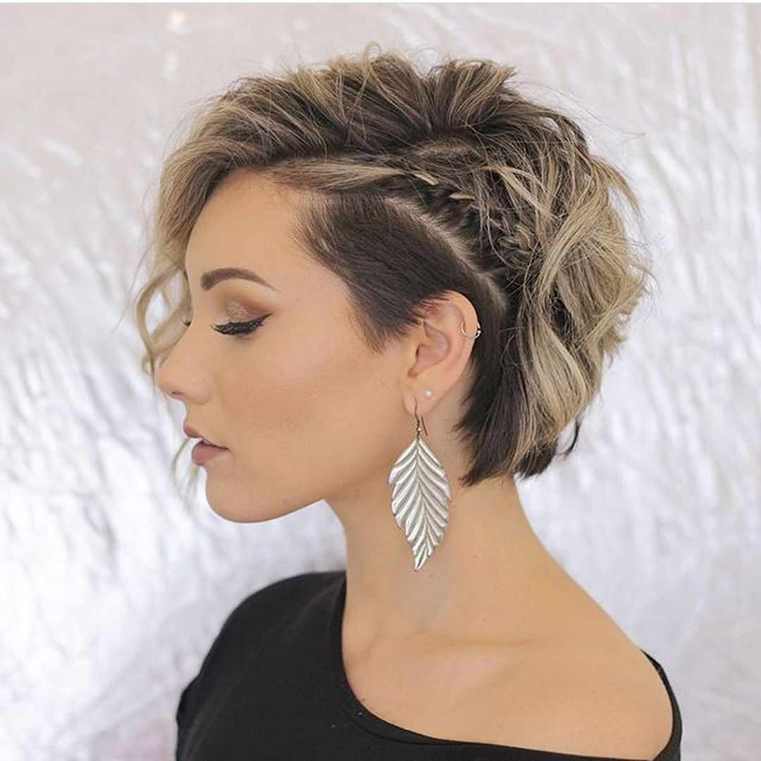 layered short hairstyles that can be preferred for date nights 19