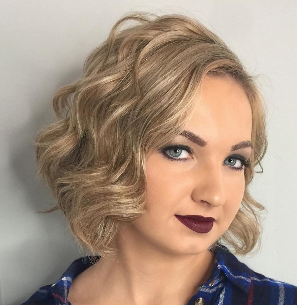 short haircuts for round faces new 14