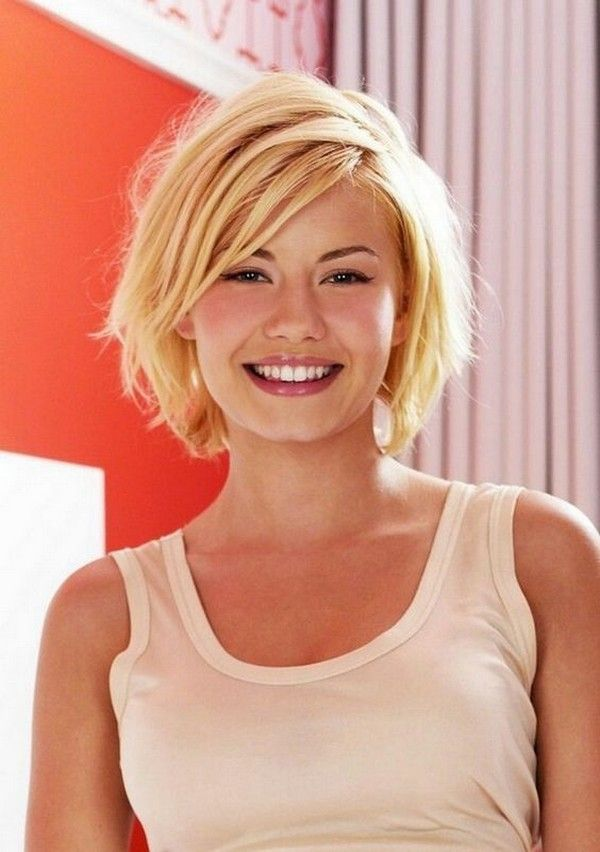 short haircuts for round faces new 15