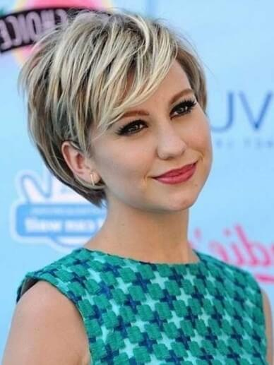 short haircuts for round faces new 7