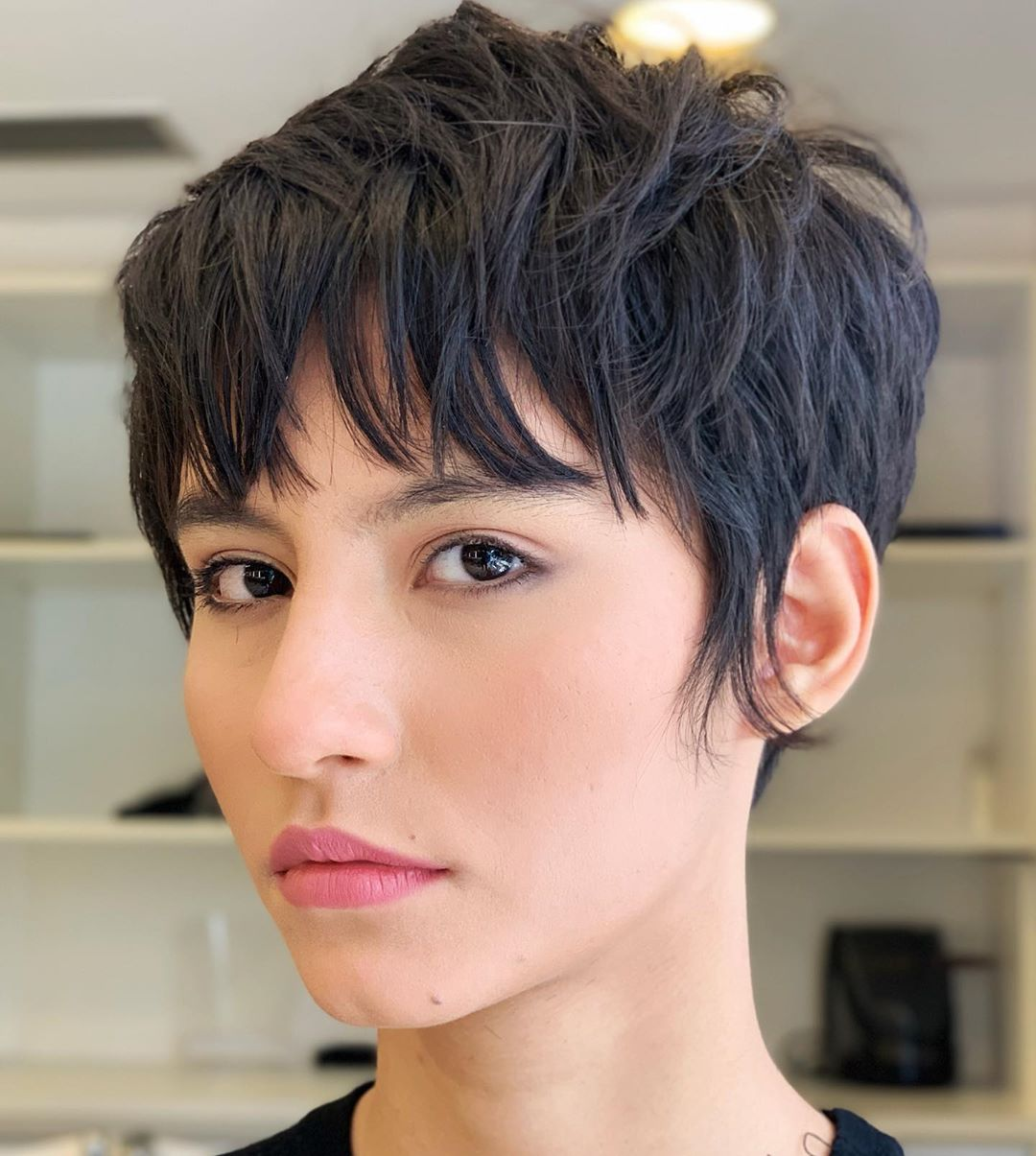 short haircuts with bangs adorable stylish ideas 10
