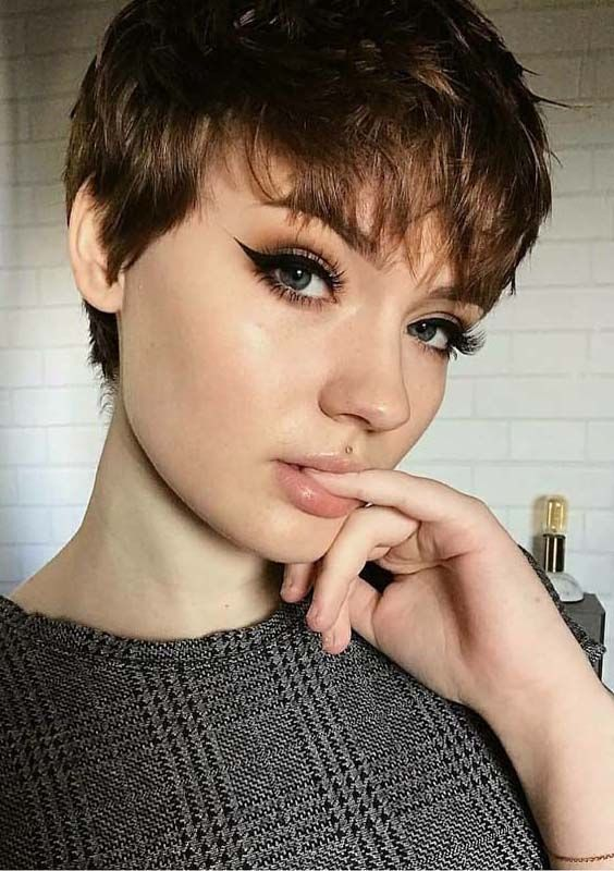 short haircuts with bangs adorable stylish ideas 11