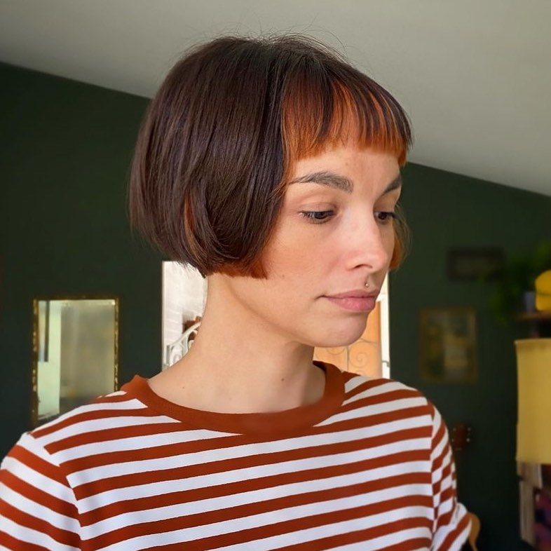 short haircuts with bangs adorable stylish ideas 22