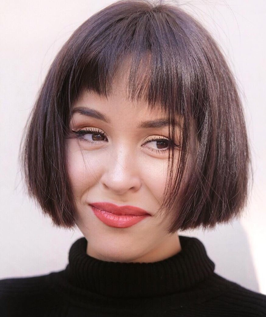 short haircuts with bangs adorable stylish ideas 8