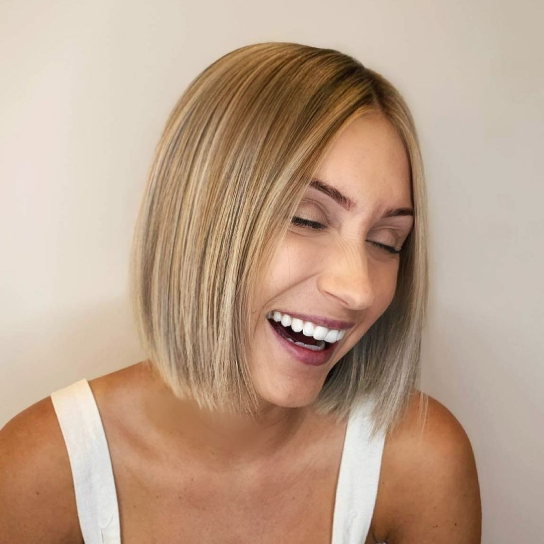 short straight haircut ideas for a younger look 15