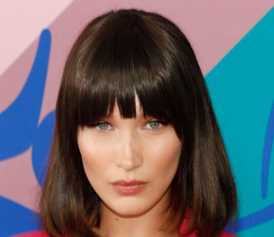 textured lob with bangs with short hair looks 22