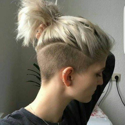 one sided shaved hairstyles 15
