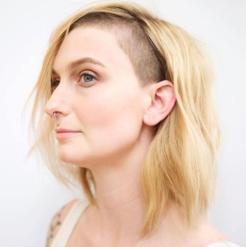one sided shaved hairstyles 25