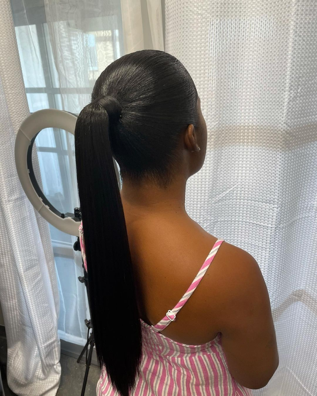 ponytail hairstyles for black hair 11