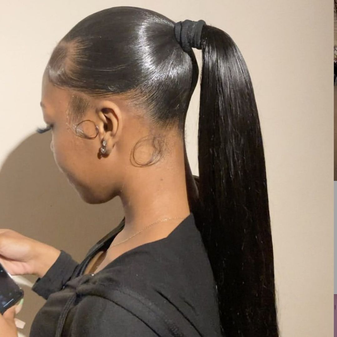 ponytail hairstyles for black hair 15