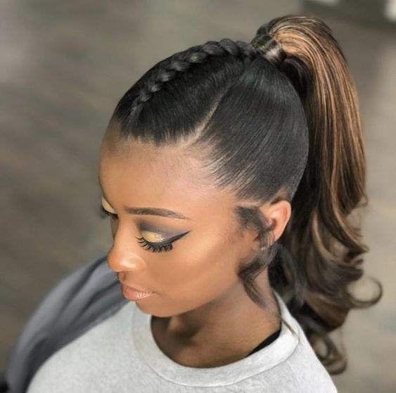 ponytail hairstyles for black hair 18