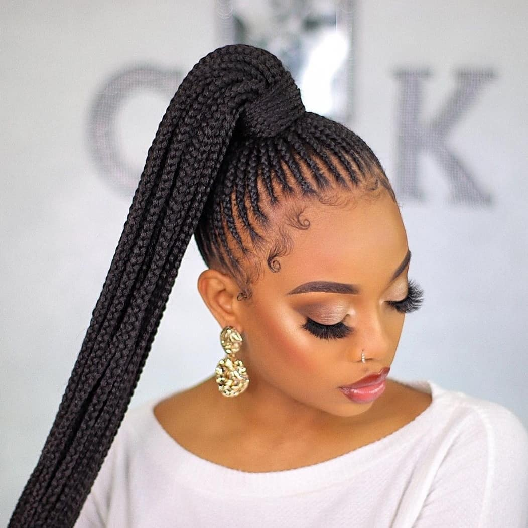 ponytail hairstyles for black hair 21