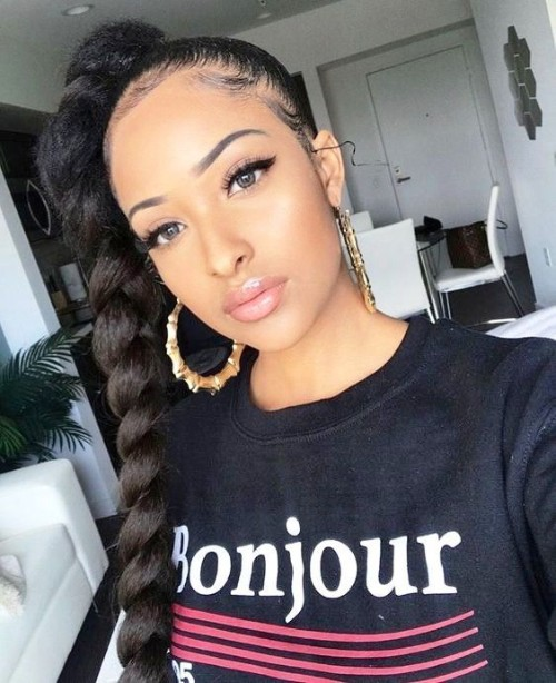 ponytail hairstyles for black hair 4